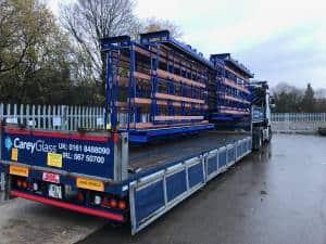 UK Stillage Manufacturer Glass Handling AFrames Transport Flatbed