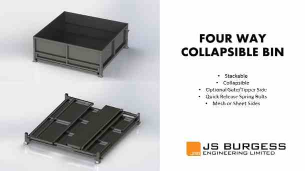 Four Way Collapsible Bins