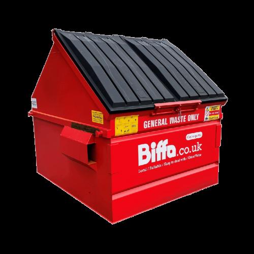 UK Black Plastic Lid Skip Front-End-Load (FEL) Manufacturer Waste Management